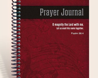 Personalized Gift / Prayer Journal - Men's Worship available in 4 colors