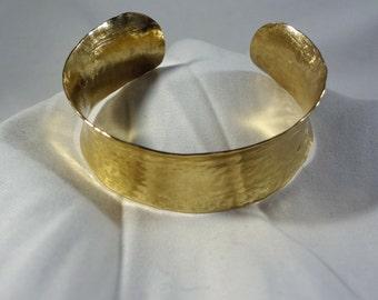 Gold Brass Hammered Bracelet (CCB247)
