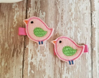 Bird Hair Clip, Bird Hair Clips, Felt Hair Clip, Felt Hair Bows, Hair Clippies, Hair Bows, Hair Bow Clips, Bows For Girls, Barrettes