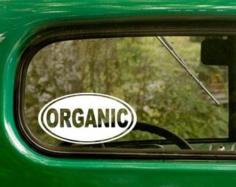 Organic Decal, Organic Sticker, All Natural, Car Decal, Laptop Sticker, Oval Sticker, Bumper, Vinyl Decal, Car Sticker