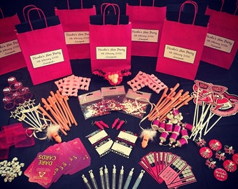 Personalised Hen Party Pre Filled Gift Bag -Create Your Own Choose 8 Items