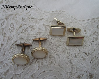 Vintage cufflinks x 2 Mother of pearl