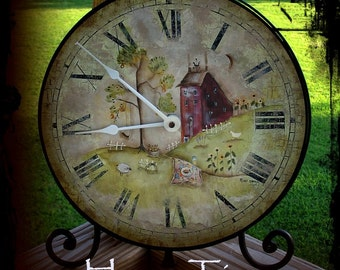HOME Clock by Terrye French, Painting with Friends