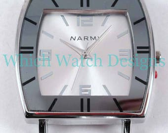Large Square.. Chunky Ribbon Watch Face, Interchangeable, Solid Bar