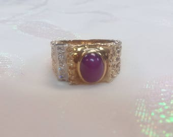 Mans Pink Sapphire Ring