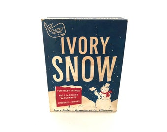 Ivory Snow Box - Vintage Full Unopened Box of Ivory Snow Laundry Soap - Vintage Proctor & Gamble - Laundry Room Decor - Prop -  Advertising