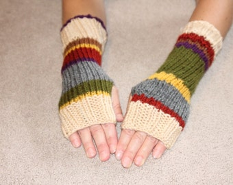 Dr. Who Inspired Fingerless Gloves One Size Fits All