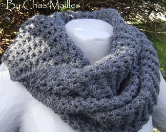 double cowl charcoal gray round 2