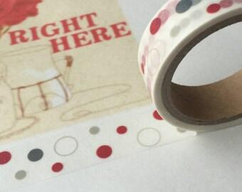Washi tape (washi) - winter dots