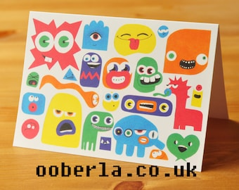 Faces Greetings Card
