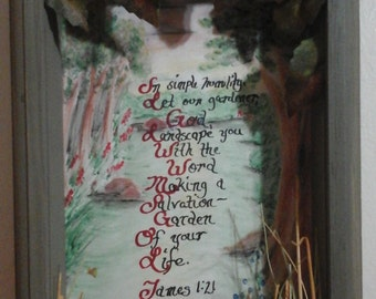 Salvation-Garden Wall Shadow Box
