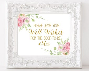 Bridal Shower Advice Sign Please Leave Your Advice and Well Wishes for the Soon to Be Mrs Sign Bridal Shower Advice Sign Bridal Shower sign