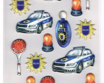 Stickers, police, 1 sheet (1319)