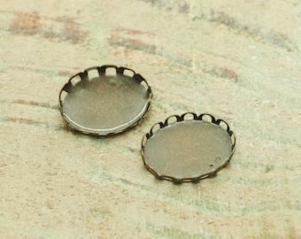 Supports X12dentelles for 18 X 13 mm cabochon