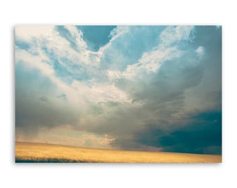 """large canvas wall art, large wall art, large colorful landscape wall art, landscape on canvas, large art on canvas - """"A Light in the Storm"""""""