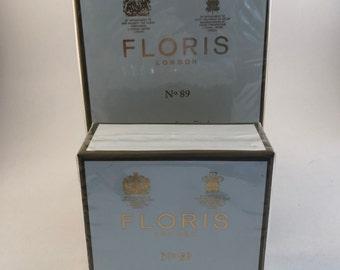 Vintage FLORIS of London No. 89 Shaving Soap Bowl 100 gr. & 100 gr. soap bowl refill.