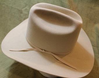"""Vintage Golden Gate Hat Co. """"Fort Worth"""" 3X Genuine Fur Felt Western Men's Hat  Sz 7 5/8 59cm"""