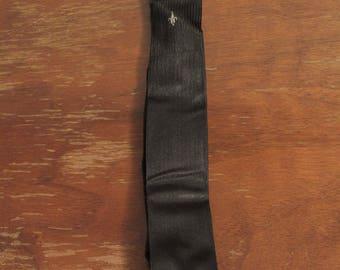 Vintage Skinny Necktie Rayon Acetate
