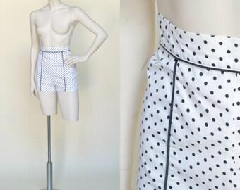 1950s Jantzen Hot Pants --- Vintage Polka Dot Shorts