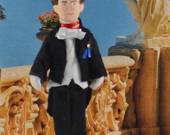 Captain Von Trapp Doll Collectible Figure Art Miniature