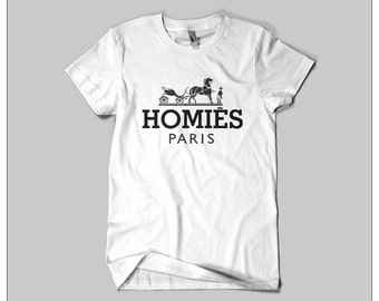 HOMIES PARIS T-SHIRT / Premium Quality ! - Made in London / Fast Delivery to the Usa , Canada , Australia & Europe !