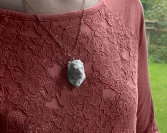 Lion Head Pendant Necklace, 3D Printed, Unique jewelry