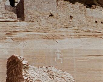 """Navajo Ruins Photograph Canyon de Chelly 12"""" x 24"""""""