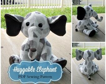 Huggable Elephant Pattern - PDF Instant Download