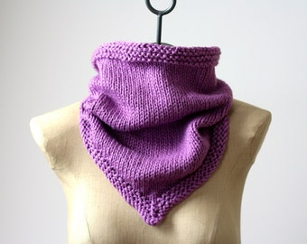 MORE COLORS The Organic Cotton Bandana Cowl ~ Hand Knit 100% Pure Organic Cotton Soft Infinity Scarf Neck Warmer Mothers Day Gift Amy LaRoux