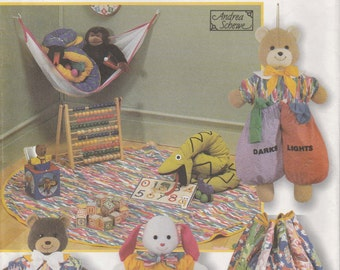 Pajama Bag Pattern Bear Rabbit Laundry Bag Drawstring Toy Hammock 1997 Uncut Simplicity 7681