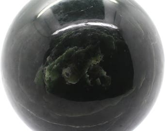 Dark green Nephrite Jade Sphere 130mm 2.6KG