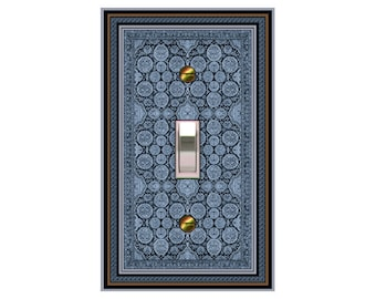 0422B - Persian Rug Bkgd switchplate - mrs butler switch plate covers - - match/match with 0422a