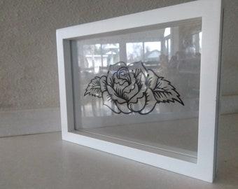 Rose inspired floating artwork