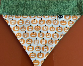 Halloween Glow in the dark Pumpkin Dog Bandana by WoofThreads