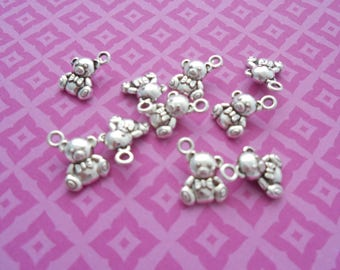 M* - Pack of 10 Charms, Different Designs (2176)