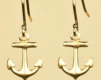 Vintage Anchor Earrings