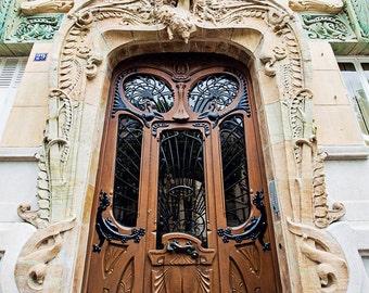 Door Photography, Paris Decor, Paris Print, Paris Photography, Travel Photography, Paris Apartment Home Decor - Paris Art Nouveau Doors