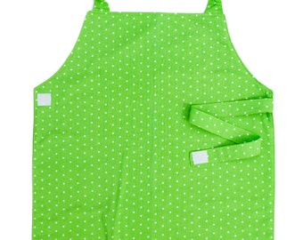 Green Polka Dot Apron - Toddler