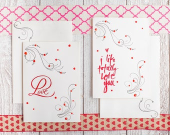 Love or I like totally love you greeting card