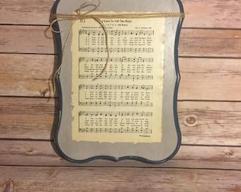 Hymnal wall hanging