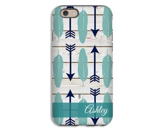 Feathers and Arrows iPhone case, boho iPhone 8 case, iPhone 8 Plus case, iPhone X case, iPhone 7 case, feathers iPhone 7 Plus case