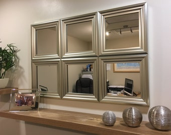 """EXCLUSIVE""""The Silverdale"""" Silver Wall Mirror 92 X 62 CM"""