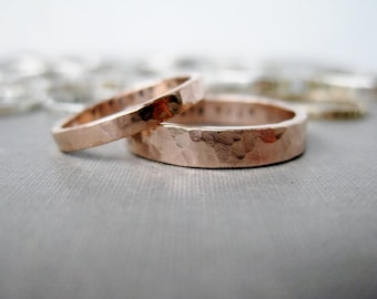 Rose Gold-Filled Personalized Couple Rings