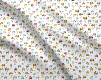 Snow Cone Fabric - Sno-Cone By Kristinnohe - Shaved Ice Summer Sweet Treat Rainbow Cute Kids Cotton Fabric By The Yard With Spoonflower