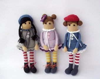 PDF Dolly cute Crochet Pattern - Doll Crochet Toy,  DIY tutorial