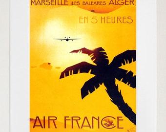 France Travel Art Print Algeria Vintage French Home Decor Poster (ZT131)