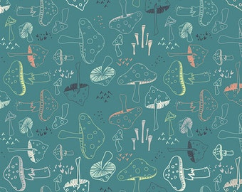 Hello Bear Morel Grove Pond Art Gallery Fabric