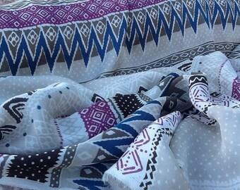 Geometric Satin Fabric by the Yard, Satin Yardage, Fabric by the Yard
