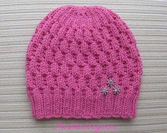 Instant Download #189 Knitting Pattern Hat Irina in Size Adult