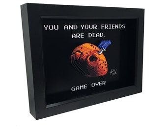 Friday the 13th NES Friday the 13th Nintendo 8 Bit Jason 3D Art Friday the 13th Video Game Art 8 Bit Art Retro Video Game Print Horror Art